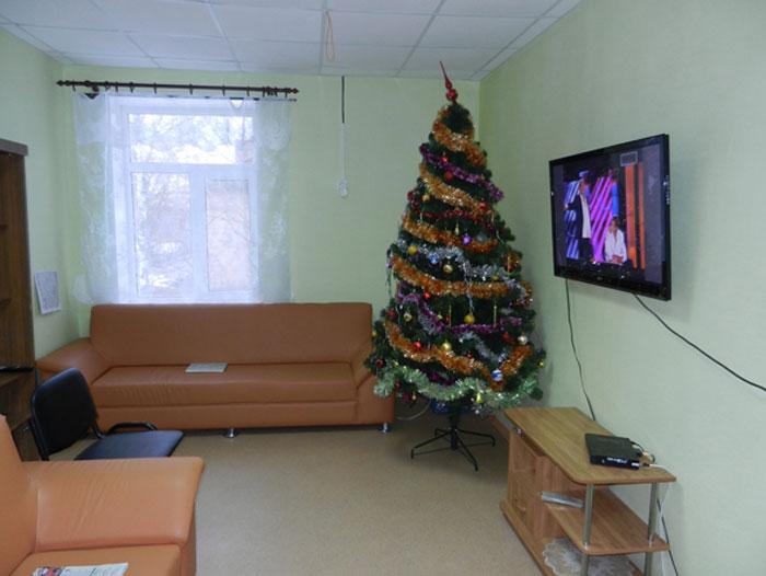 Холл Линовского дома-интерната для престарелых и инвалидов