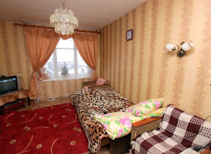 Комната постояльцев Новоржевского дома-интерната для престарелых