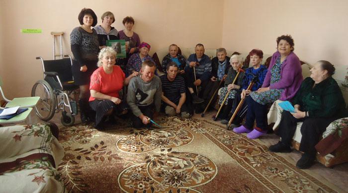 Жильцы Новоселовского дома-интерната