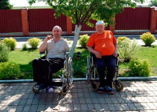 Жители Серебряно-Прудского дома-интерната «Надежда»