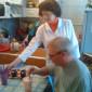 Обед жителей Серпуховского центра реабилитации инвалидов «Меридиан»