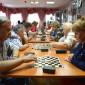 Игра в шашки постояльцев Серпуховского дома ветеранов
