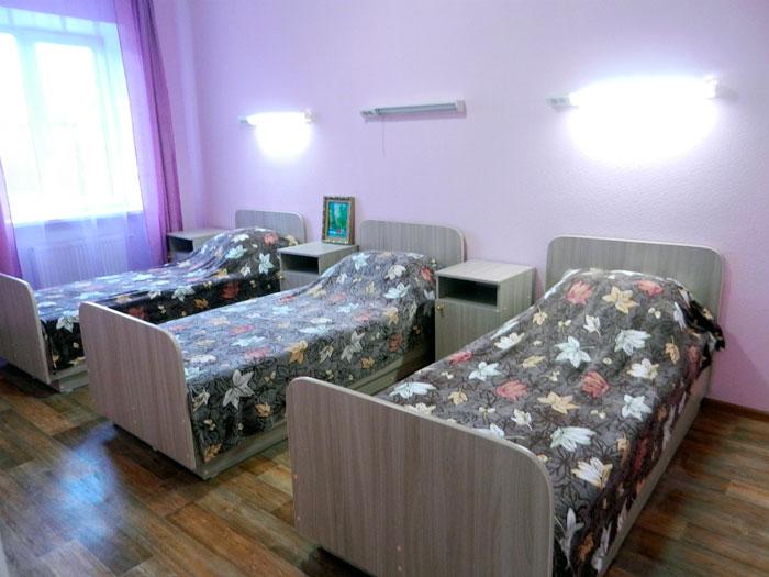Комната постояльцев пансионата для пожилых «Уютный дом»