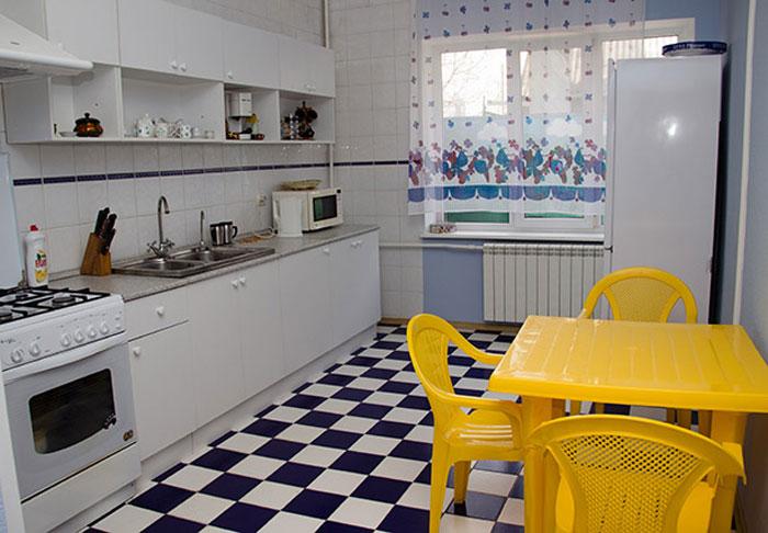 Кухня в пансионате «Дом солнца»