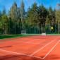 Корт для тенниса в санатории «Плисса»