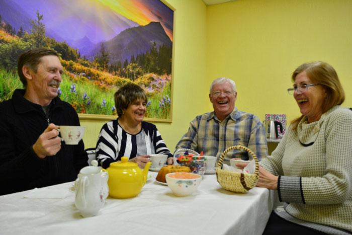 Чаепитие жильцов загородного дома «Забота»