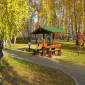 Беседки в санатории «Урал» (Челябинская область)