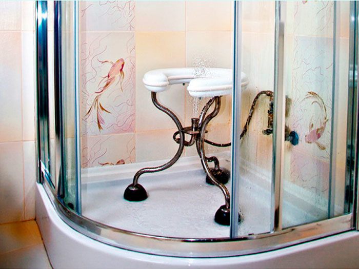 Восходящий душ, воздействие на организм