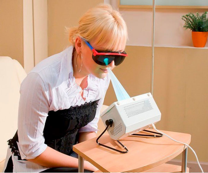 КУФ терапия носа и горла