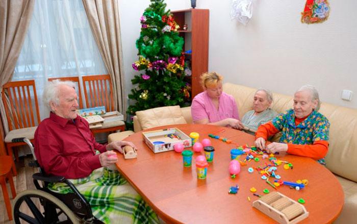 Досуг жителей в доме престарелых «Мытищи»