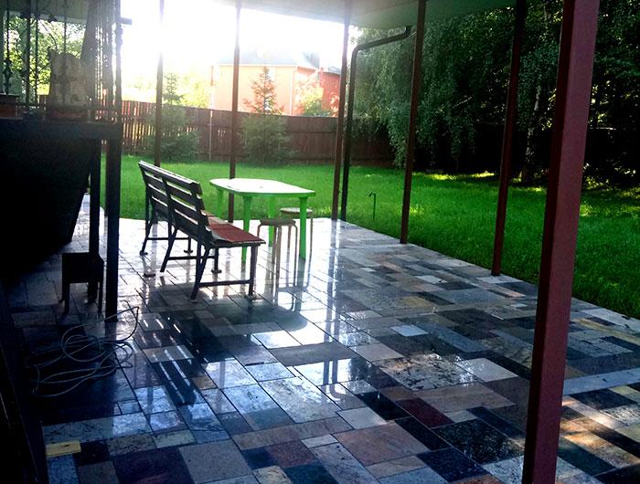 Веранда в пансионате для престарелых «Зеленая слобода»