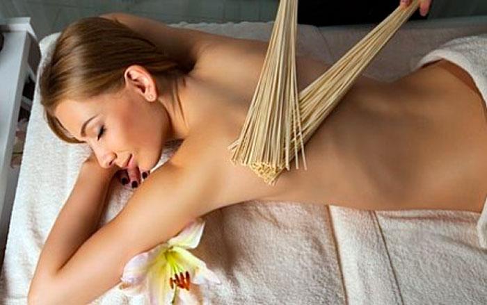 Креольский массаж бамбуковыми вениками