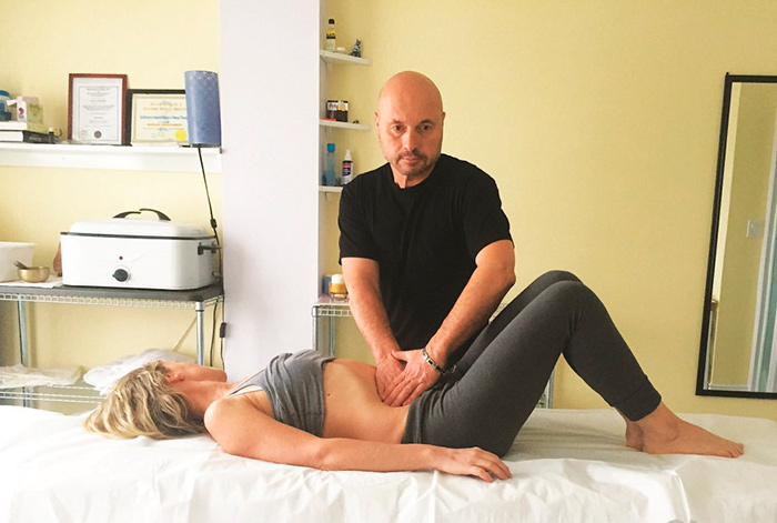 Сеанс висцерального массажа