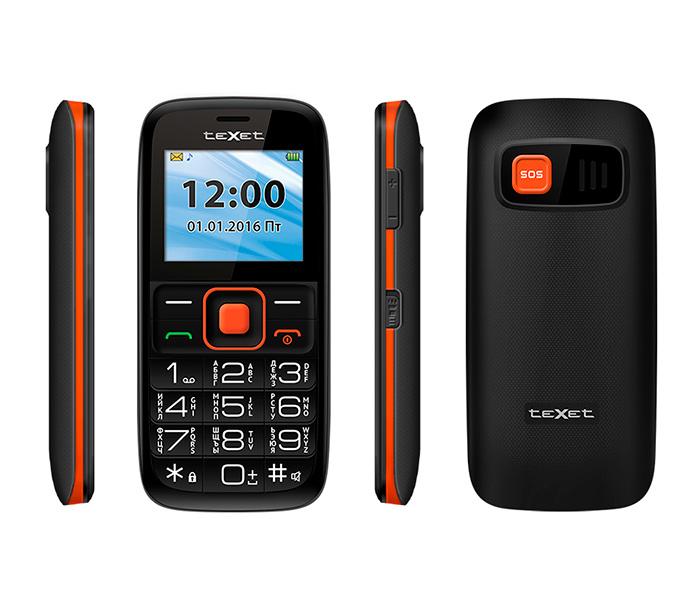 Телефон для пожилых с двумя симкартами TeXet TM-B117