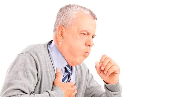 Сильный кашель один из симптомов атрофического бронхита