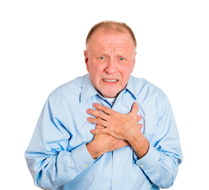 Удушье при спонтанном пневмотораксе