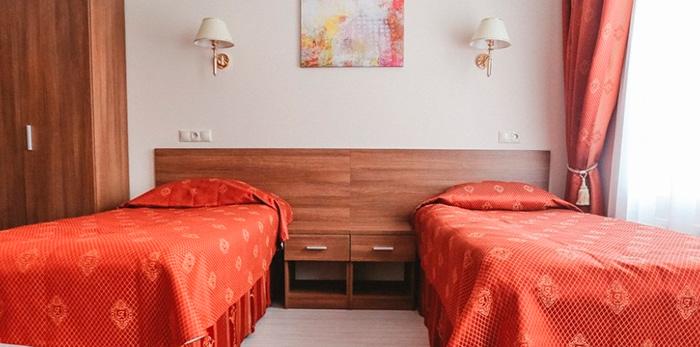 Двухместный номер в корпусе Менделеев санатория «Старая Русса»