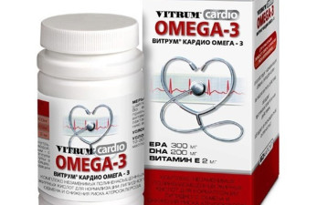 Витамины Витрум Кардио Омега 3: состав препарата и инструкция по применению