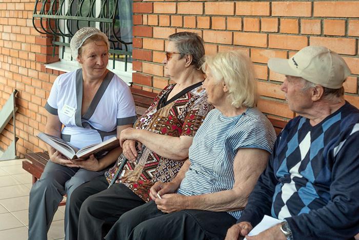 Досуг постояльцев пансионата для пожилых Подольск