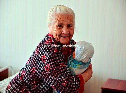 Жильцы пансионата для пожилых «Счастливая старость»