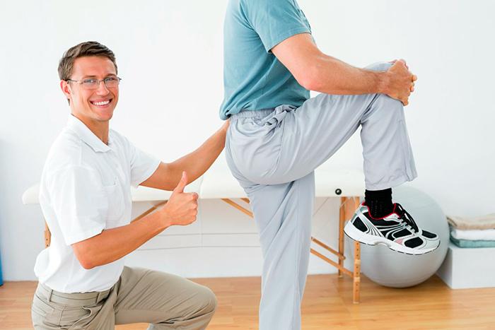Выполнение упражнений под действием инструктора