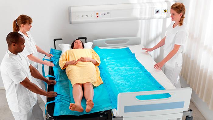 Скользящие простыни для лежачих больных