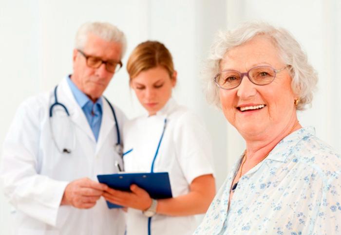 Процесс лечения пожилых родителей