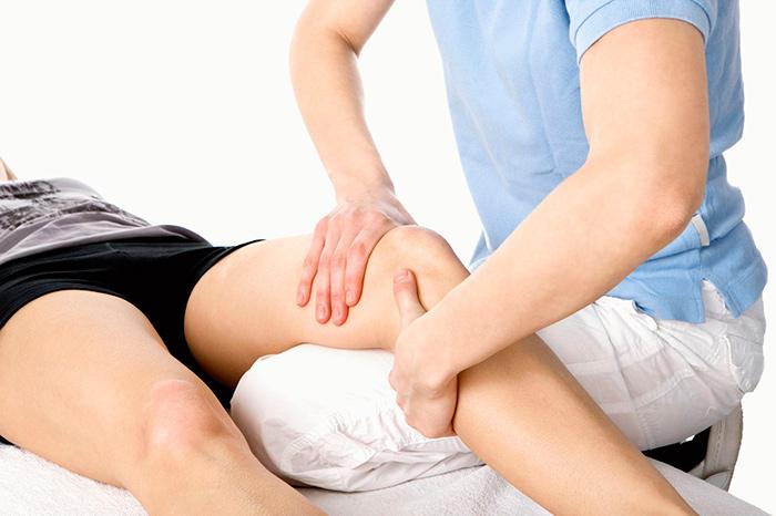Массаж для восстановления функций коленного сустава