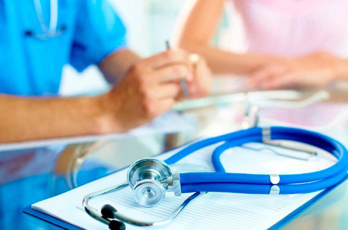 Обследование у врача перед поездкой в санаторий