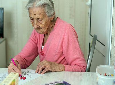 Арт-терапия в пансионате для пожилых «Сходня»