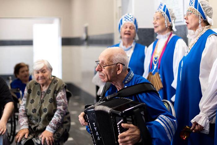 Досуг в пансионате для пожилых «Сходня»